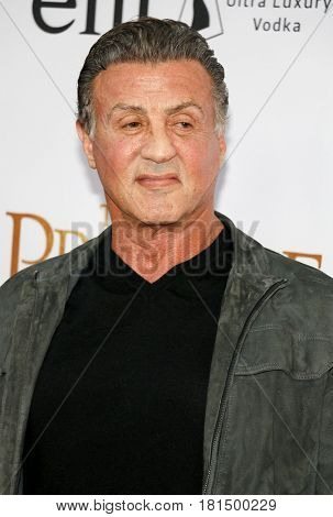 Sylvester Stallone at the Los Angeles premiere of 'The Promise' held at the TCL Chinese Theatre in Hollywood, USA on April 12, 2017.