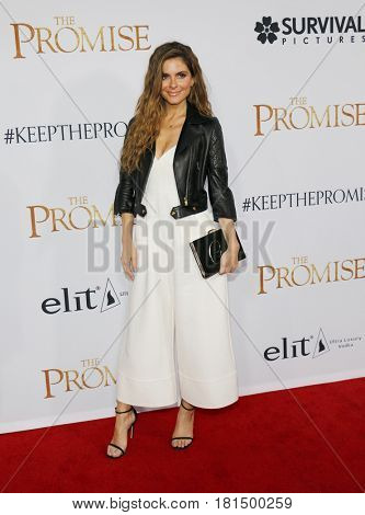 Maria Menounos at the Los Angeles premiere of 'The Promise' held at the TCL Chinese Theatre in Hollywood, USA on April 12, 2017.