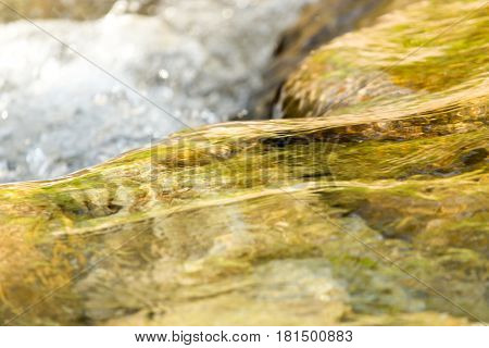 stones in the mountain river . A photo