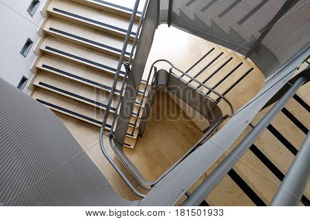 Inner staircase in a big modern building