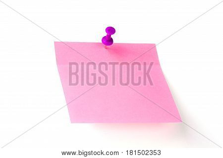 Pink Note Pad With Button