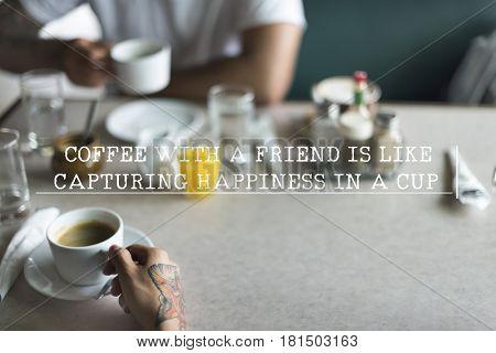 Coffee With Friend Break Concept