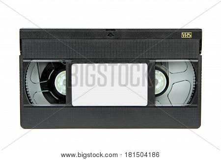 VHS vido casette isolated on white background