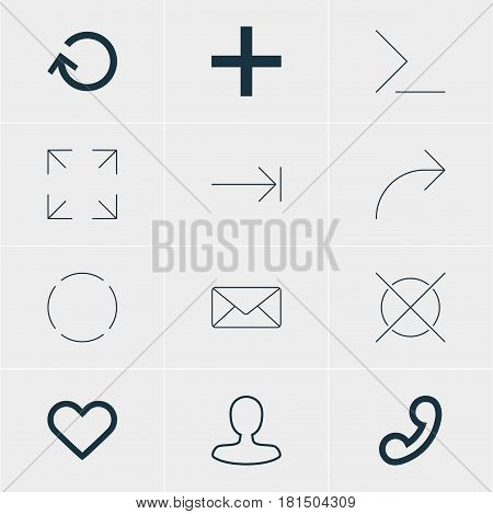 Vector Illustration Of 12 User Icons. Editable Pack Of Emotion, Startup, Man Member And Other Elements.