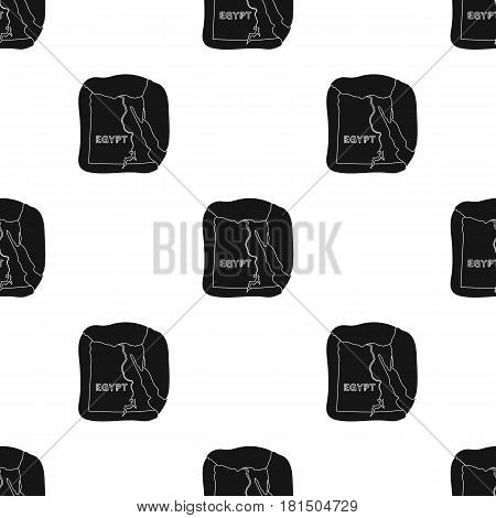 Territory of Egypt icon in black style isolated on white background. Ancient Egypt pattern vector illustration.