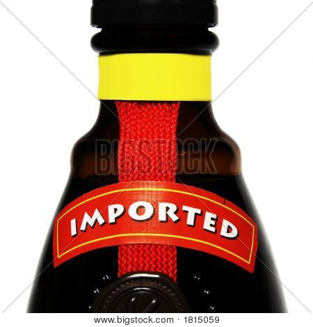Imported Alcohol (Isolated On White)