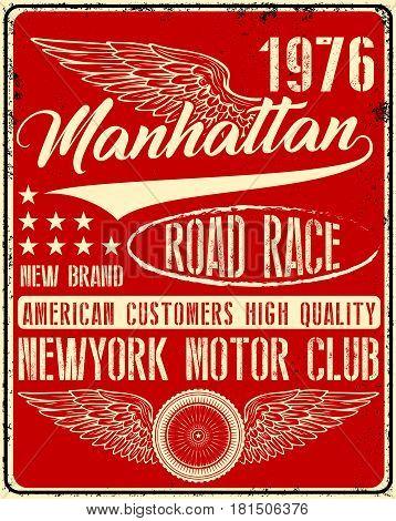 Vintage man t shirt graphic design about newyork