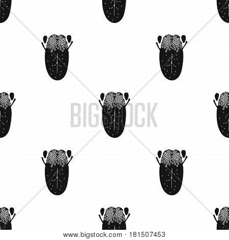 Human tongue icon in black style isolated on white background. Human organs pattern vector illustration.