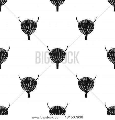 Human urinary bladder icon in black style isolated on white background. Human organs pattern vector illustration.