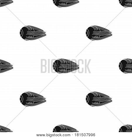 Human eyeball icon in black style isolated on white background. Human organs pattern vector illustration.