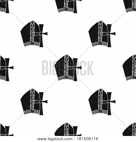 Vatican patterns icon in black style isolated on white background. Italy country pattern vector illustration.
