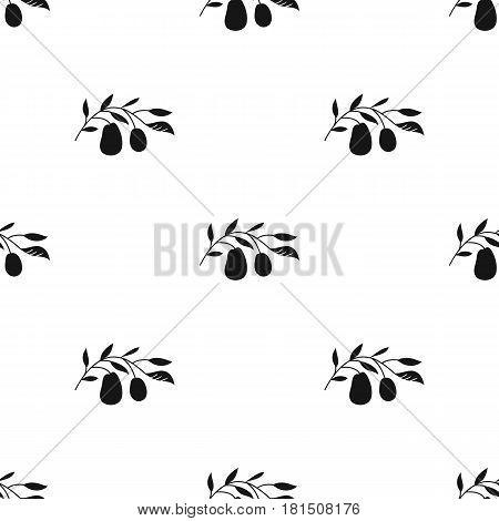 Italian olives from Italy icon in black style isolated on white background. Italy country pattern vector illustration.