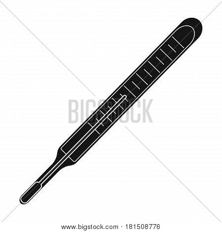 Medical thermometer.Medicine single icon in black style vector symbol stock illustration .
