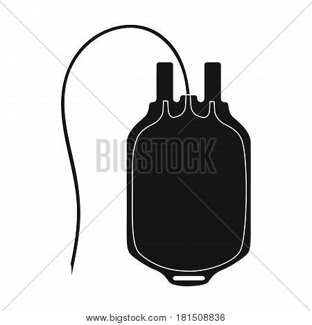 Bag of blood.Medicine single icon in black style vector symbol stock illustration .