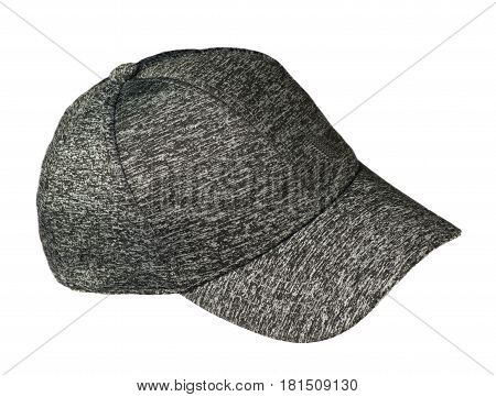 Hat Isolated On White Background. Hat With A Visor .pockmarked Hat