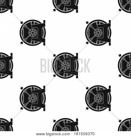Bank vault icon in black style isolated on white background. Money and finance pattern vector illustration.