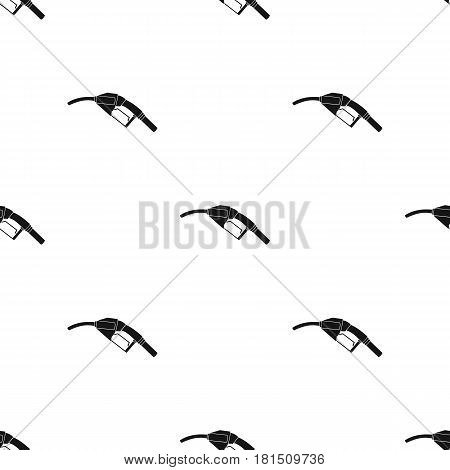 Fuel nozzle icon in black style isolated on white background. Oil industry pattern vector illustration.