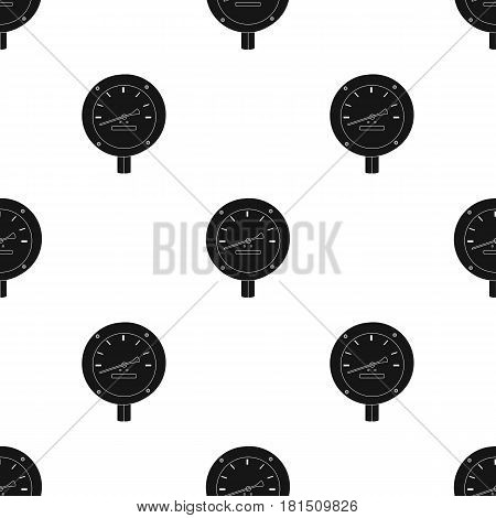 Oil manometer icon in black style isolated on white background. Oil industry pattern vector illustration.