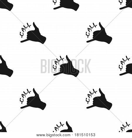 Order pizza icon in black style isolated on white background. Pizza and pizzeria pattern vector illustration.