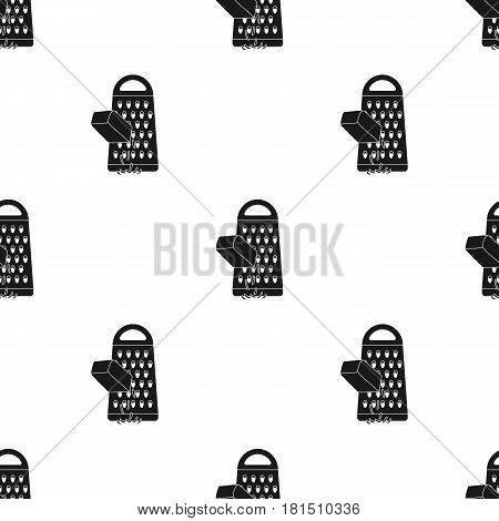 Grating cheese icon in black style isolated on white background. Pizza and pizzeria pattern vector illustration.