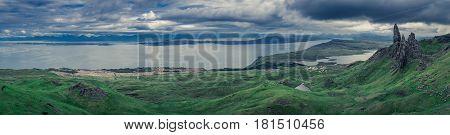 Panorama Of Old Man Of Storr, Isle Of Skye, Scotland
