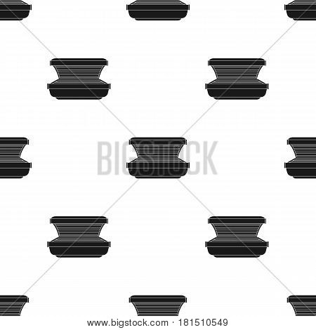 Tanning bed icon in black style isolated on white background. Skin care pattern vector illustration.