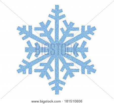 Blue Snowflake icon on white background .