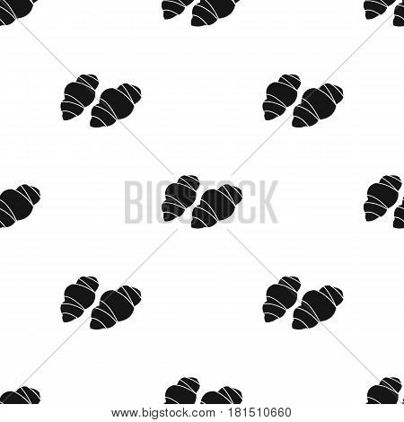 Gnocchi pasta icon in black style isolated on white background. Types of pasta pattern vector illustration.