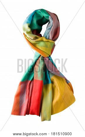 Scarf Summer. Multicolored Scarf. Scarf Top View