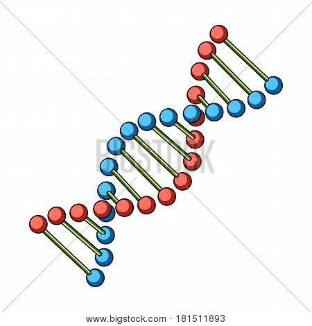 DNA chain.Medicine single icon in cartoon style vector symbol stock illustration .
