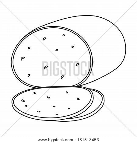 Smoked cheese.Different kinds of cheese single icon in black style vector symbol stock illustration .