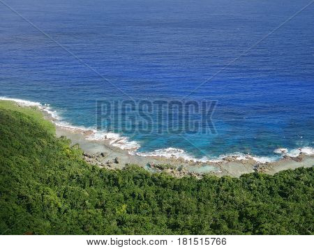 Coastal view from Sinapalo overlook, Rota  Overlooking a stunning view of the coast from Sinapalo village, Northern Mariana Islands