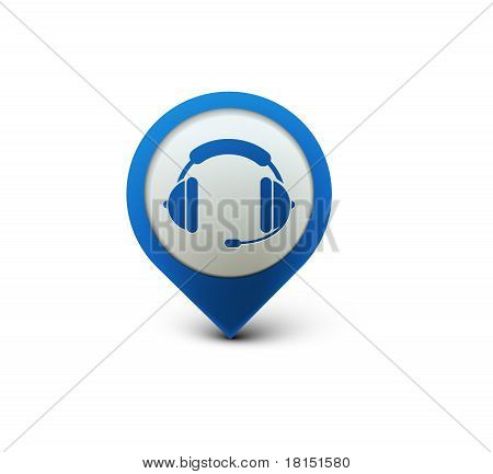 Headset Web Icon