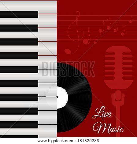Banner For The Concert Live Music Red Illustration Eps 10