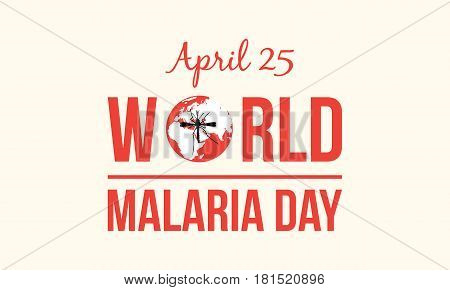 World Malaria Day style collection vector illustration