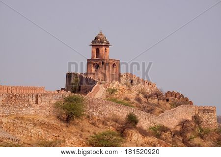 JAIPUR, INDIA - FEBRUARY 16: The Jaigarh Fort near Jaipur is one of the most spectacular forts in India in Jaipur, Rajasthan, India, on February, 16, 2016.