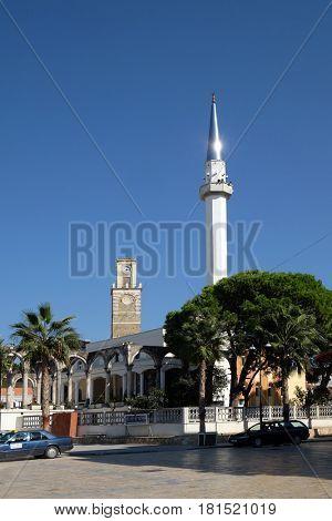KAVAJE, ALBANIA - OCTOBER 01, 2016: Kavaje old city and a municipality in Tirana County, Albania on October 01, 2016