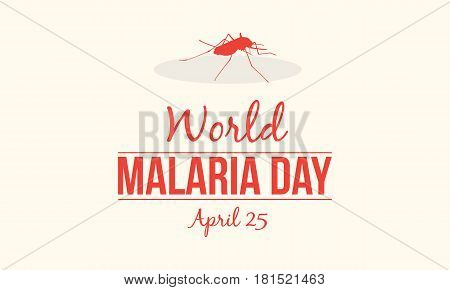 Background for world malaria day style vector illustration