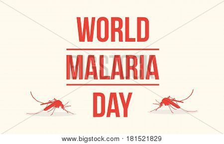 Collection background world malaria day vector illustration