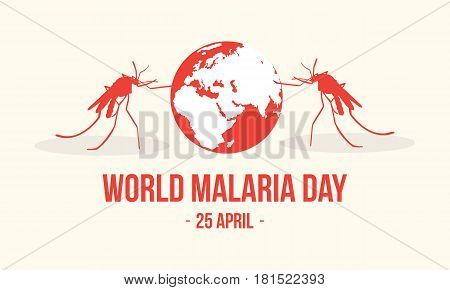 World Malaria Day Concept Style vector illustration