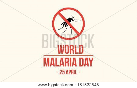 Stop Malaria background collection stock vector illustration