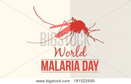 World Malaria Day vector illustration collection stock