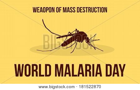 World Malaria Day Illustration Collection Stock Background
