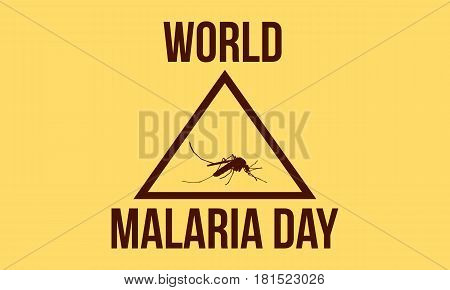 Background world malaria day style vector illustration