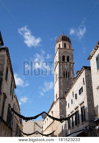 DUBROVNIK, CROATIA - NOVEMBER 07: Franciscan church of the Friars Minor in Dubrovnik, Croatia on November 07, 2016.