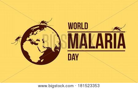 World malaria day collection stock vector illustration