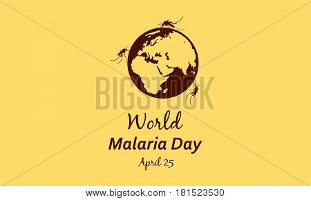 Collection World Malaria Day Style vector illustration