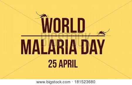 World Malaria Day background collection vector illustration