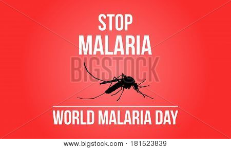 Stop Malaria Sign collection stock vector illustration