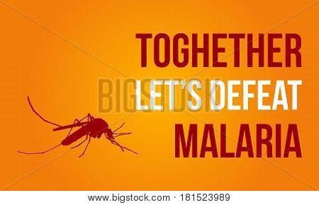 Collection of Malaria Day style vector illustration